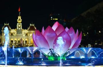 Музыкальный фонтан в Хошимине