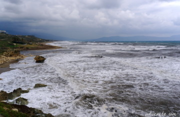 Зима на Крите: ливни, шторм и снегопады